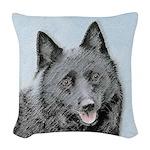 Schipperke Woven Throw Pillow