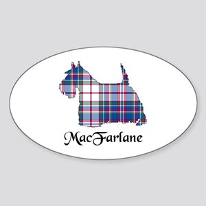 Terrier-MacFarlane dress Sticker (Oval)