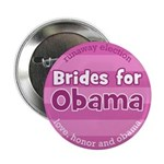Runaway election Democratic Wedding party buttons