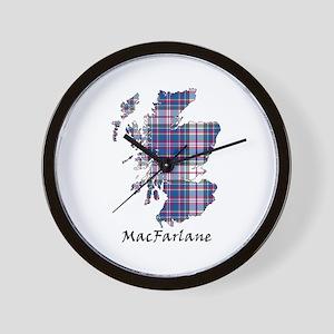 Map-MacFarlane dress Wall Clock