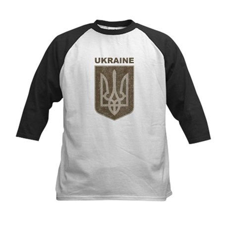Vintage Ukraine Kids Baseball Jersey
