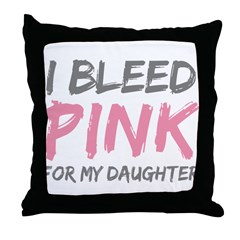 Pink Breast Cancer Daughter Throw Pillow
