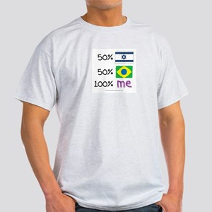 Israel/Brazil Flag Design Light T-Shirt