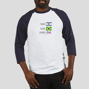 Israel/Brazil Flag Design Baseball Jersey