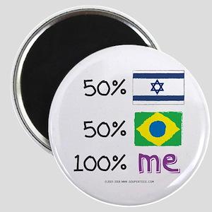 Israel/Brazil Flag Design Magnet