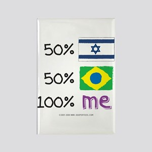 Israel/Brazil Flag Design Rectangle Magnet