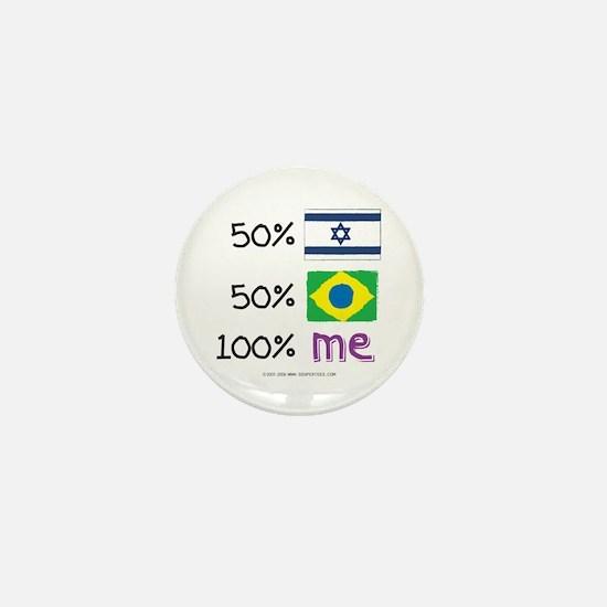Israel/Brazil Flag Design Mini Button