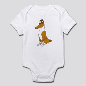Smooth Sable Collie Infant Bodysuit