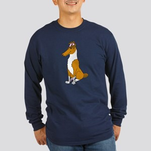 Smooth Sable Collie Long Sleeve Dark T-Shirt