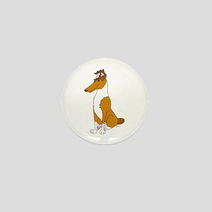 Smooth Sable Collie Mini Button