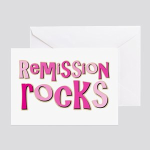 Remission Rocks Breast Cancer Greeting Card