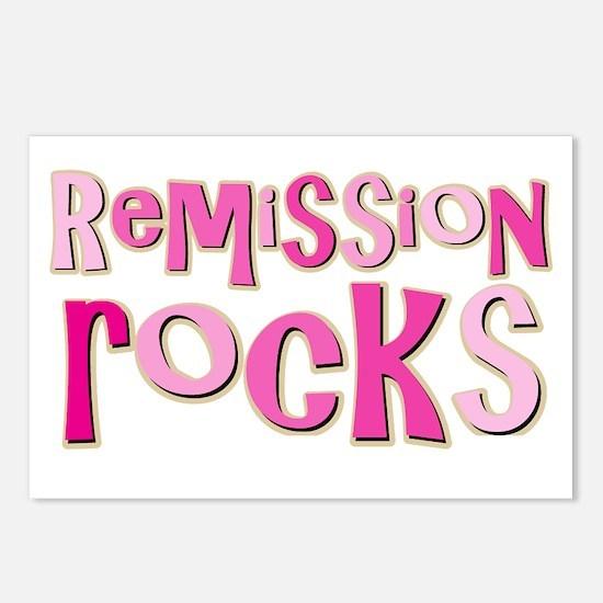 Remission Rocks Breast Cancer Postcards (Package o