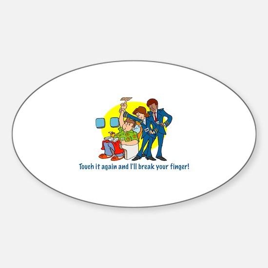 Call Button Oval Sticker (10 pk)