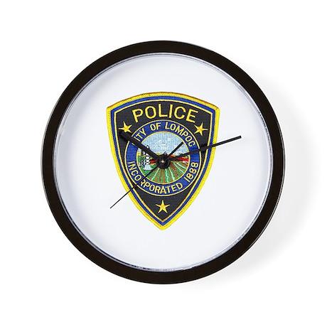 Lompoc Police Wall Clock
