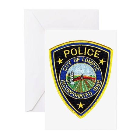 Lompoc Police Greeting Cards (Pk of 10)