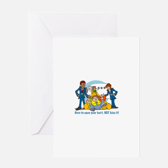 Save Your Butt Greeting Cards