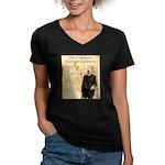 Heck Thomas Women's V-Neck Dark T-Shirt