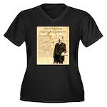 Heck Thomas Women's Plus Size V-Neck Dark T-Shirt