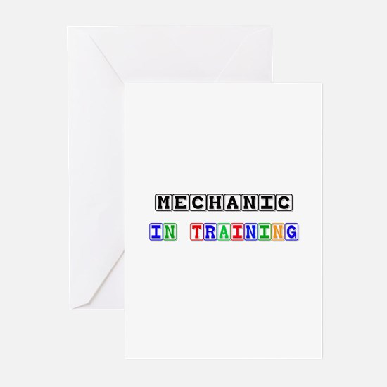 Mechanic In Training Greeting Cards (Pk of 10)