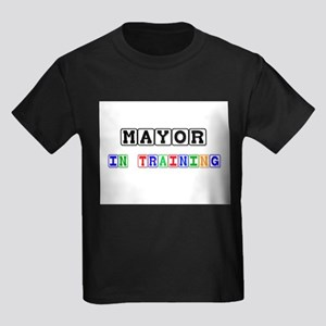 Mayor In Training Kids Dark T-Shirt