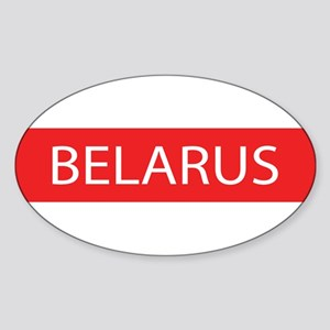 Belarus Full Name Oval Sticker
