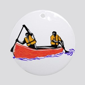 Canoeing Ornament (Round)