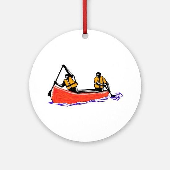 Canoeing Ornament (Round)