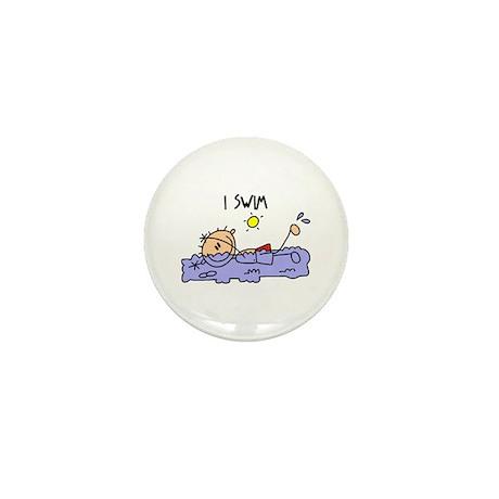 I Swim Mini Button