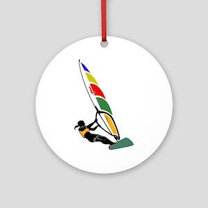 Windsurfer Colorful Ornament (Round)