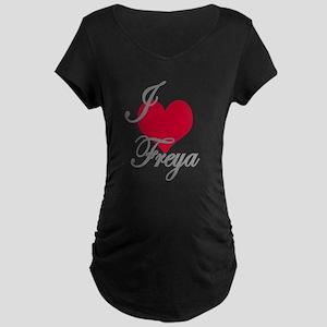 I love (heart) Freya Maternity Dark T-Shirt