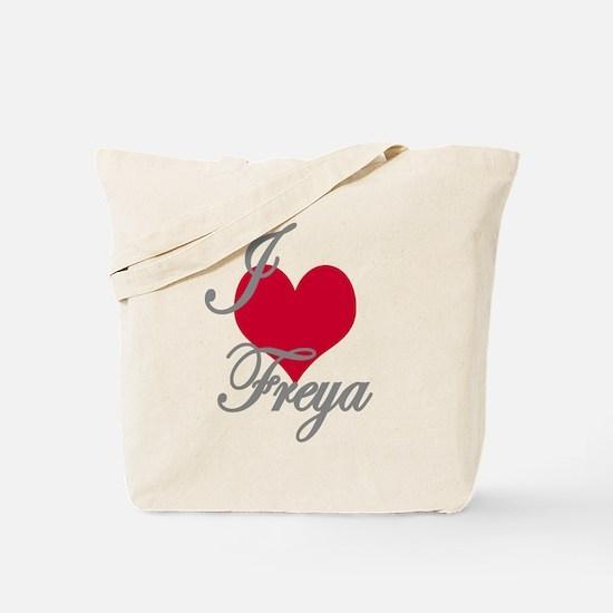 I love (heart) Freya Tote Bag