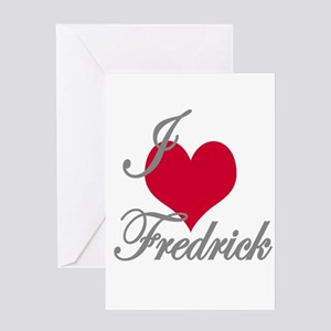 I love (heart) fredrick Greeting Card
