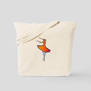 Modern Dancing Tote Bag