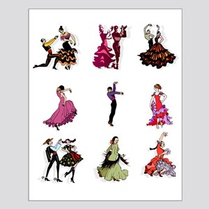 Flamenco Spanish Dancing Small Poster