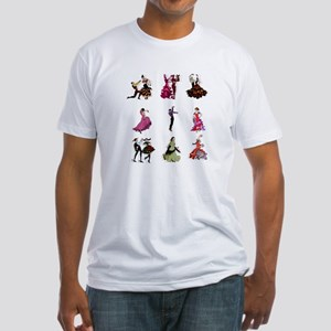 Flamenco Spanish Dancing Fitted T-Shirt