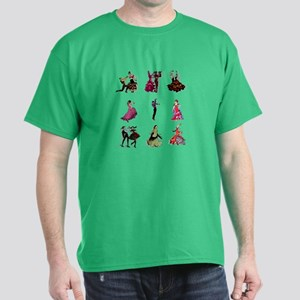 Flamenco Spanish Dancing Dark T-Shirt