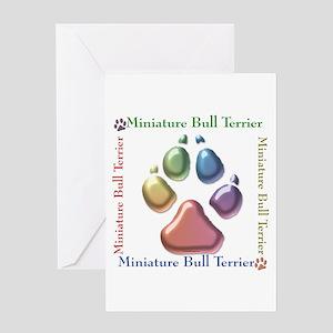 Mini Bull Name2 Greeting Card