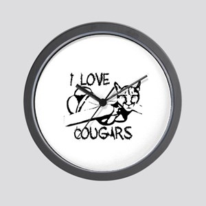 I love Cougars Wall Clock