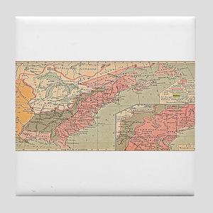 13 British Colonies in North America Tile Coaster