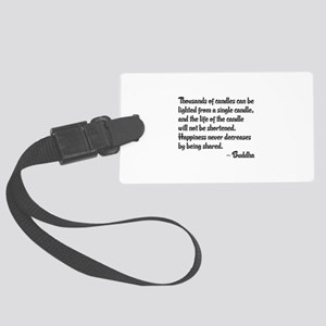 Share Happiness Large Luggage Tag
