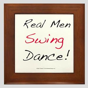 Real Men Swing Dance Framed Tile