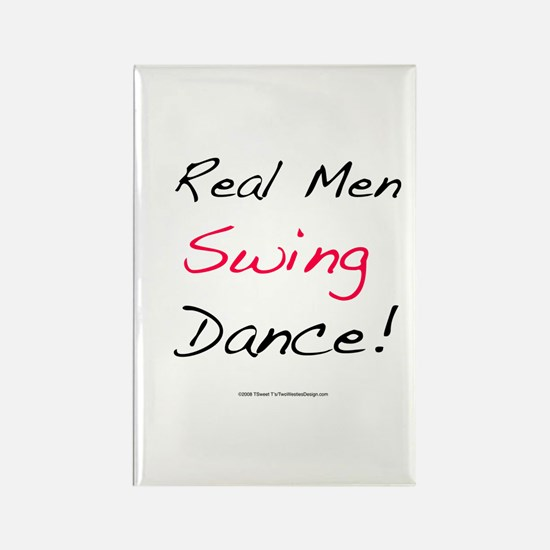Real Men Swing Dance Rectangle Magnet