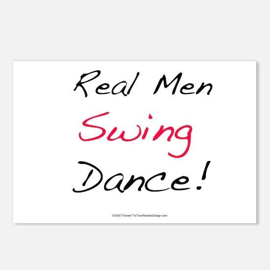 Real Men Swing Dance Postcards (Package of 8)