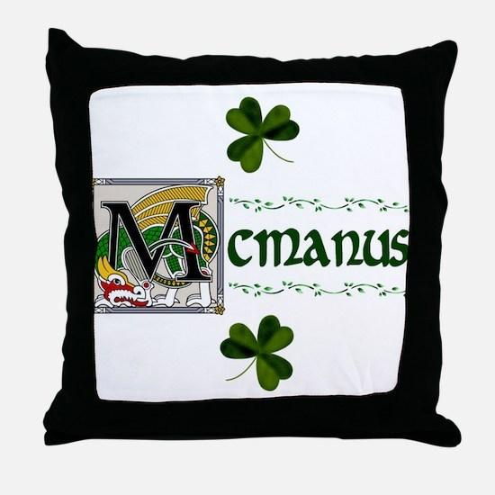 McManus Celtic Dragon Throw Pillow