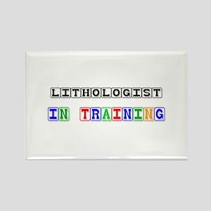 Lithologist In Training Rectangle Magnet