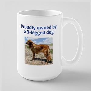 3-Legged Dog Large Mug