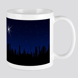 Christmas Star Over A City Mugs