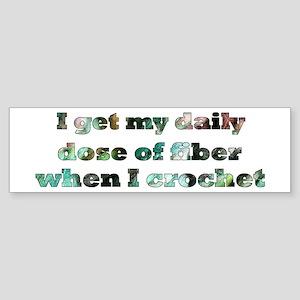 Crochet Fiber Bumper Sticker