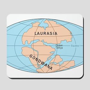 Laurasia Gondwana Mousepad