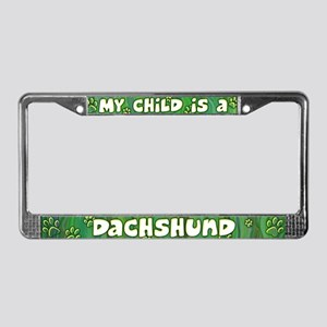 My Kid Dachshund License Plate Frame